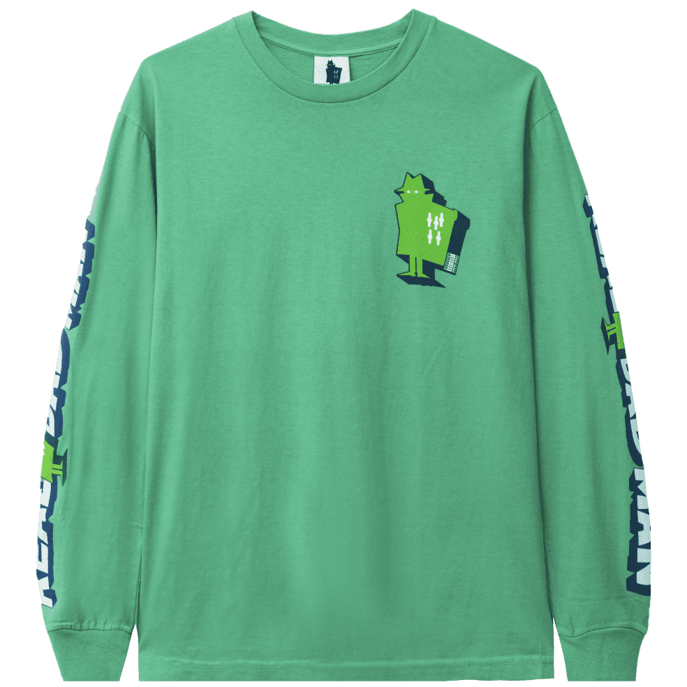 Real Bad Man Graphic Content Long Sleeve T-Shirt - Funk Green | Longsleeve by Real Bad Man 1