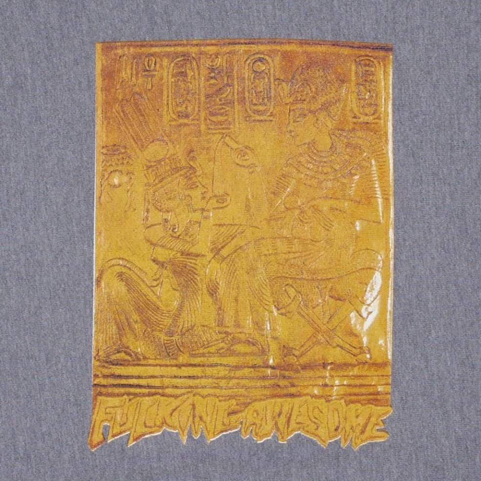 Fucking Awesome Gold Hieroglyphic Hoodie - Gunmetal   Hoodie by Fucking Awesome 2