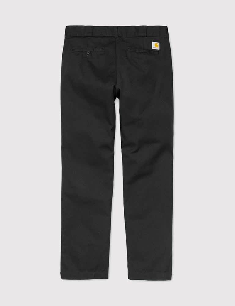 Carhartt-WIP Master Pant (Denison Twill, 8.8 oz) - Black rinsed   Trousers by Carhartt WIP 2