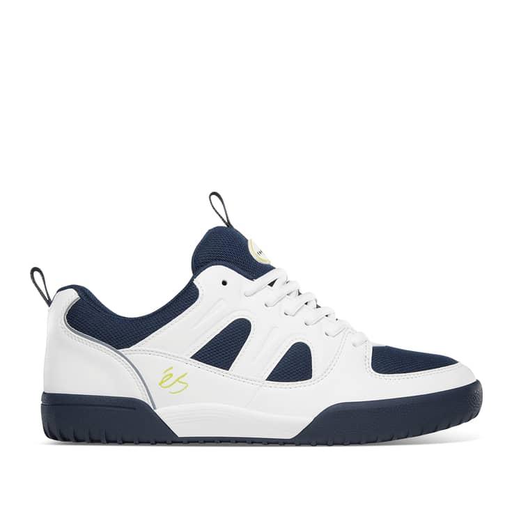 éS Silo SC Skate Shoes - White / Navy   Shoes by éS Shoes 1