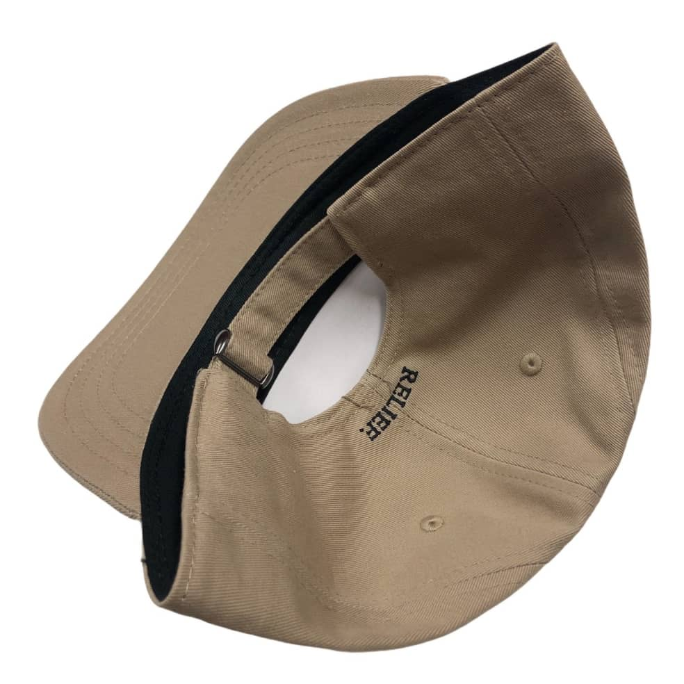 RELIEF RATTLE SNAKE 6 PANEL TAN   Baseball Cap by Relief Skate Supply 2