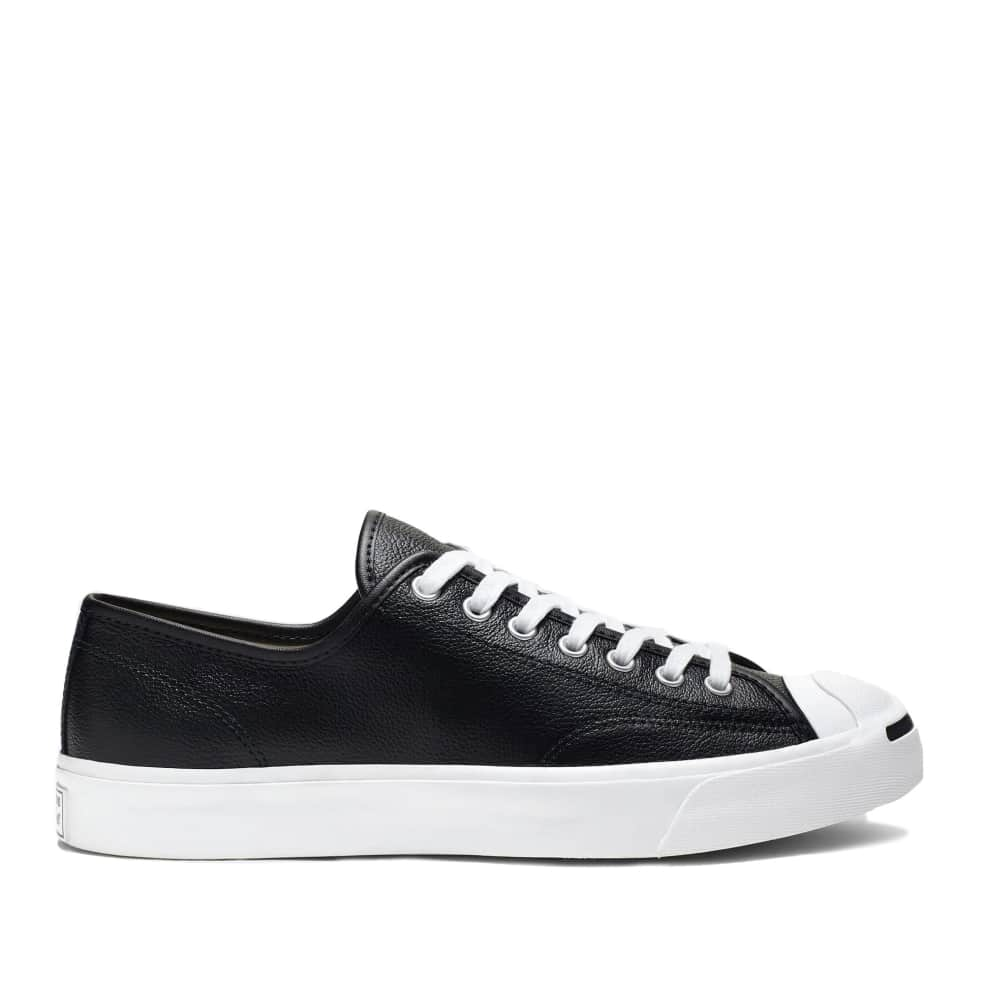 Converse Jack Purcell Leather Shoes - Black / White / White | Shoes by Converse Cons 1