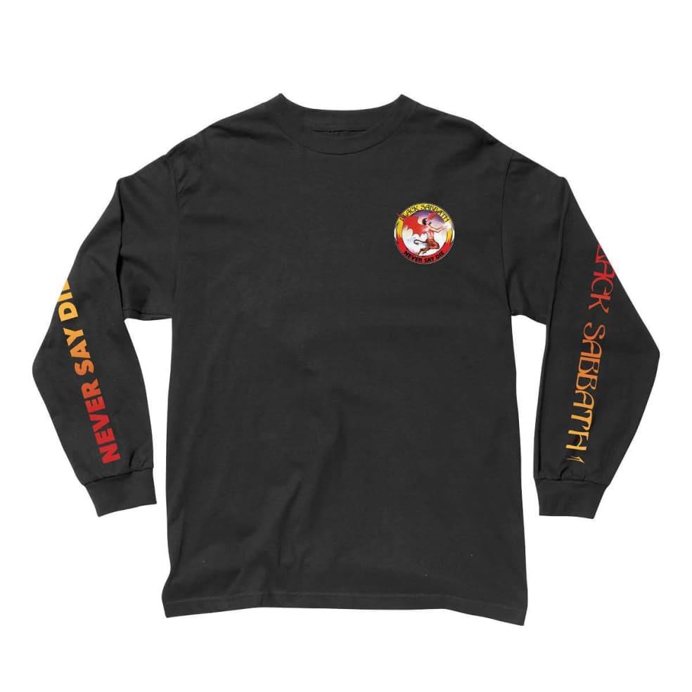 Lakai x Black Sabbath Never Say Die Long Sleeve T-Shirt - Black | Longsleeve by Lakai 1