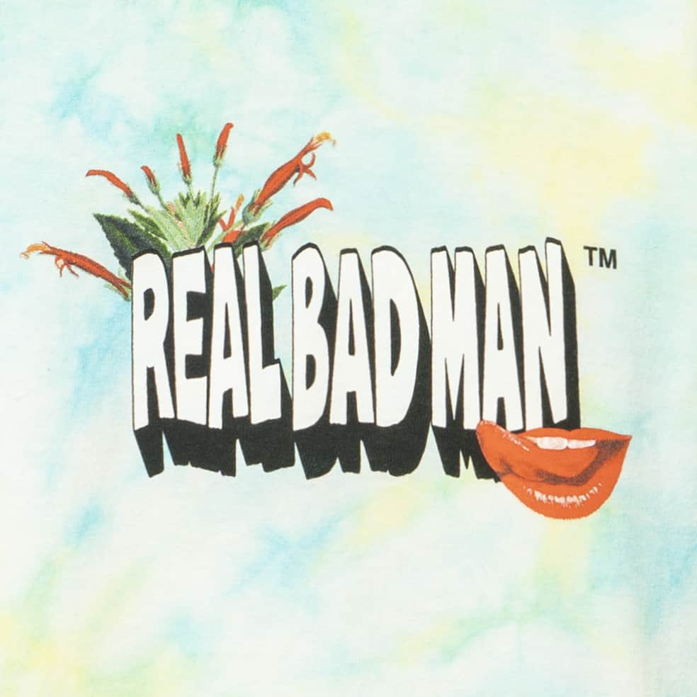 Real Bad Man From Outer Space Tie Dye Long Sleeve T-Shirt - Aqua Yellow | Longsleeve by Real Bad Man 3