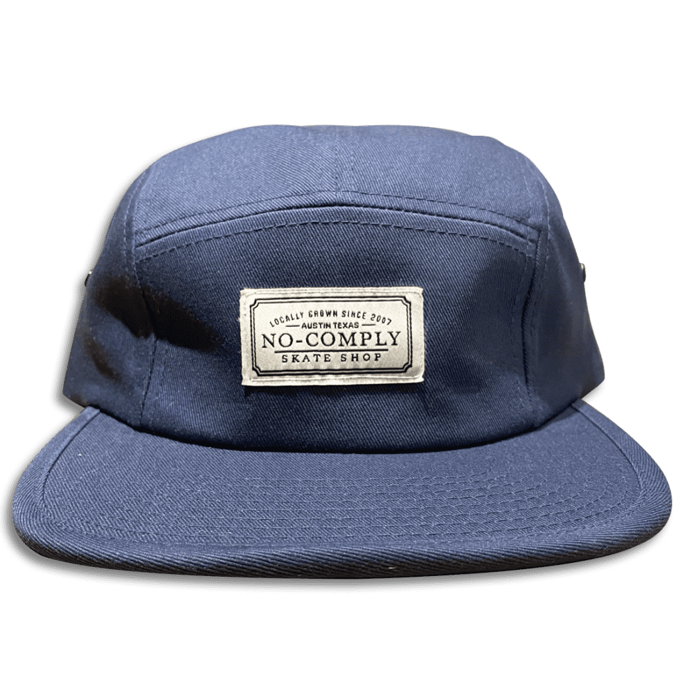 No-Comply Locally Grown 5-Panel Volley Hat - Navy | Baseball Cap by No Comply 1