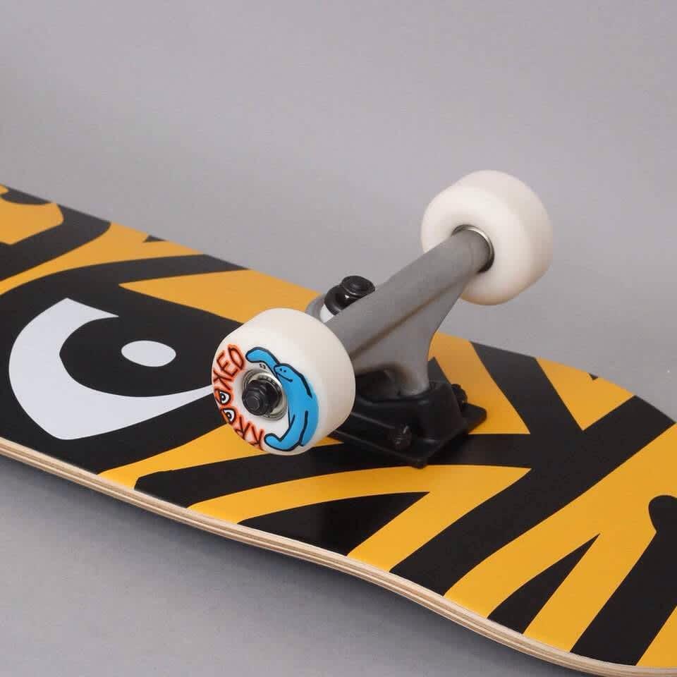 "Krooked 7.3"" Bigger Eyes Complete Skateboard Yellow/Black   Complete Skateboard by Krooked Skateboards 2"