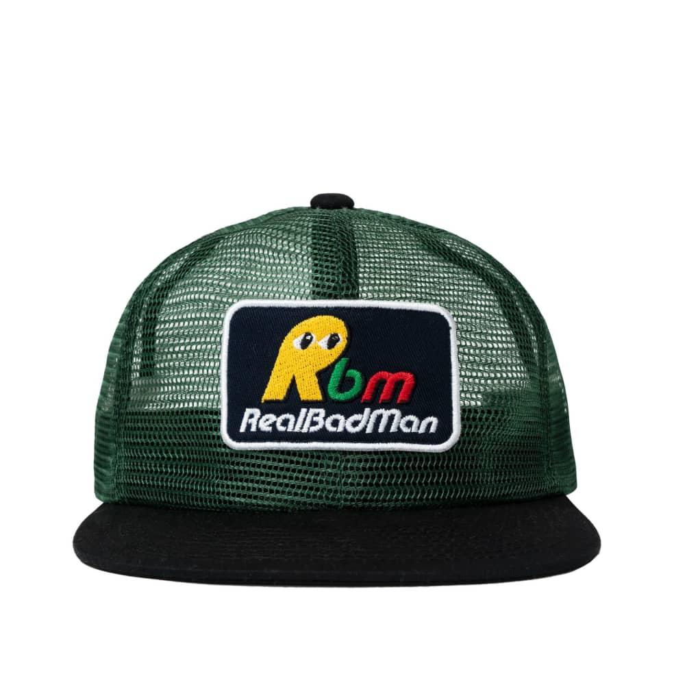 Real Bad Man NNO Mesh Snapback Hat - Green   Snapback Cap by Real Bad Man 1