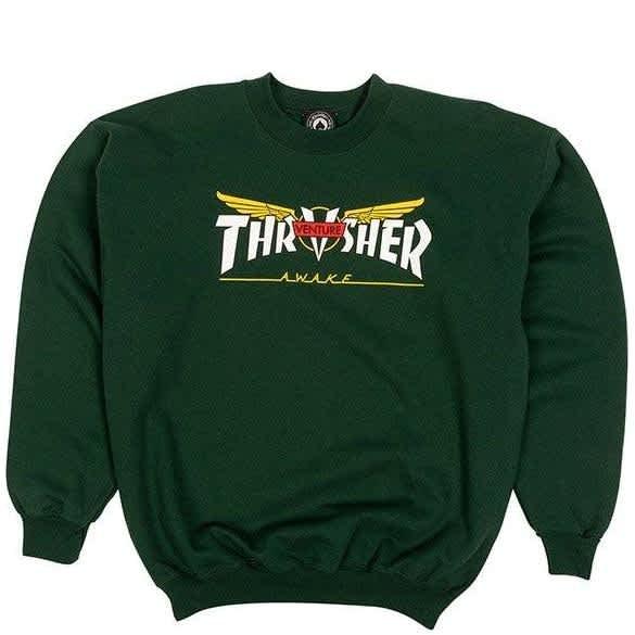 Thrasher Venture Collab Sweatshirt - Forest Green   Sweatshirt by Thrasher 1