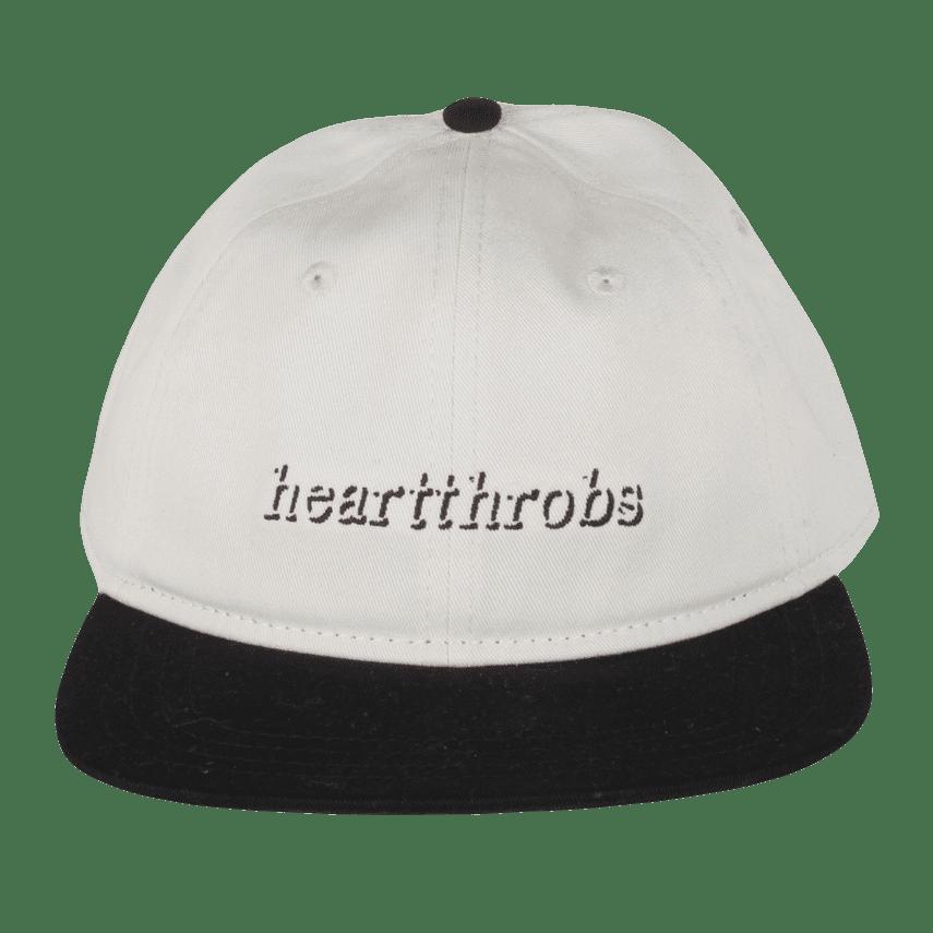Heartthrobs Logo League Hat - Cream / Black   Snapback Cap by Heartthrobs Skateboards 1
