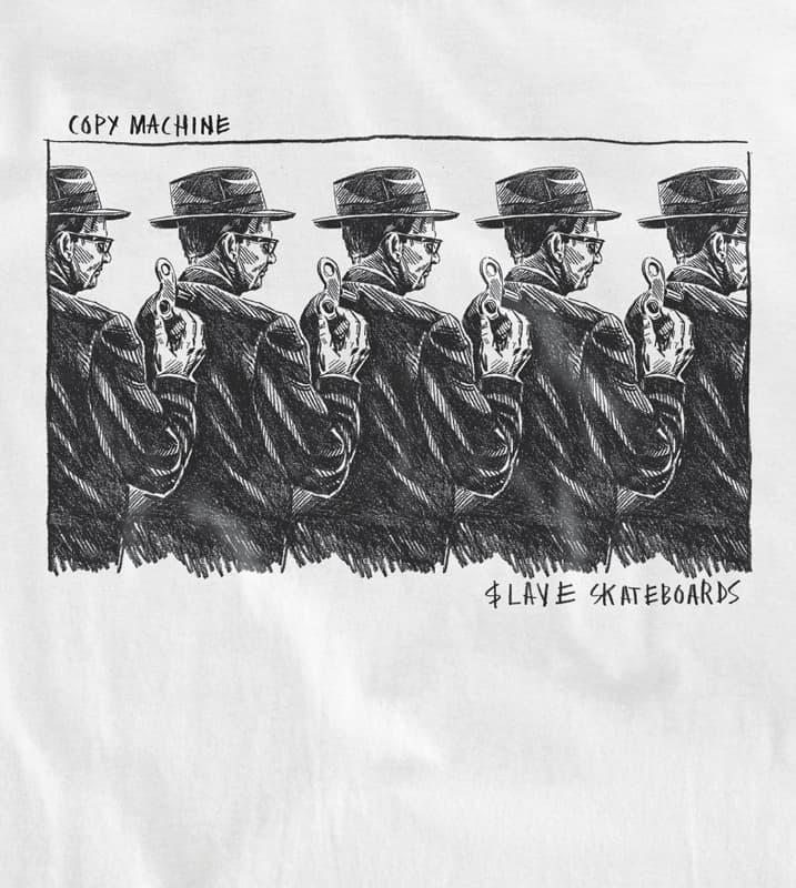 Slave Copy Machine T-Shirt (White) | T-Shirt by Slave Skateboards 2
