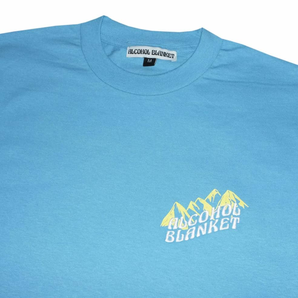 Alcohol Blanket Mountain T-Shirt - Blue | T-Shirt by Alcohol Blanket 2