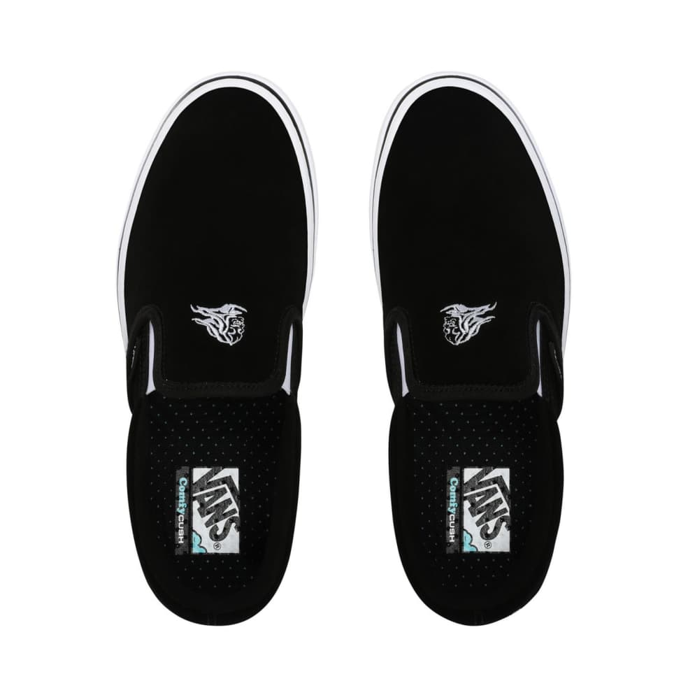 Vans Sixty Sixers Comfycush Slip On Shoes - Black / True White | Shoes by Vans 2