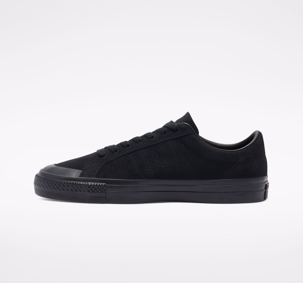 Converse CONS One Star Pro AS Low Top Shoes - Black / Black / Black   Shoes by Converse 2