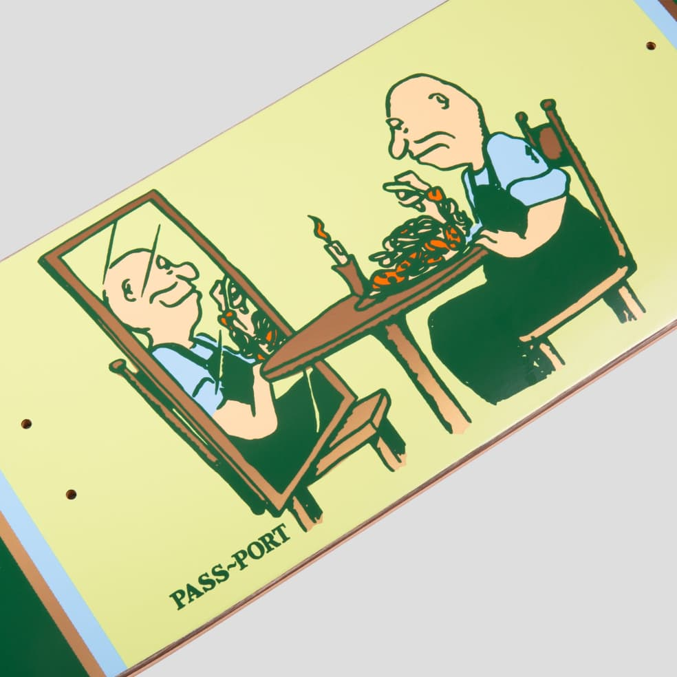 """PASS~PORT """"DINNER FOR ONE"""" UNLUCKY IN LOVE SERIES DECK   Deck by Pass~Port Skateboards 2"""