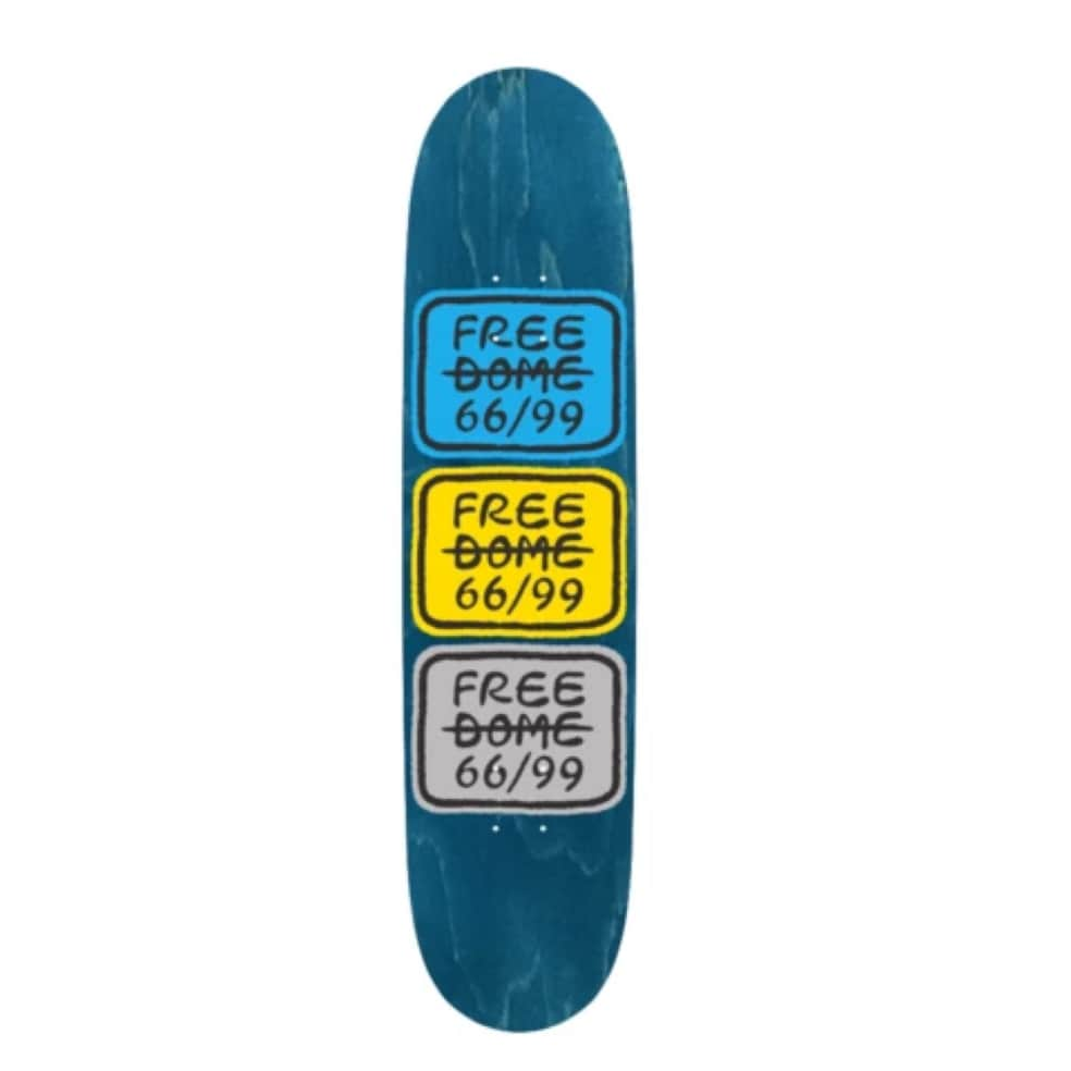 Stacked Logo Deck 8.0   Deck by Free Dome Skateboards 1