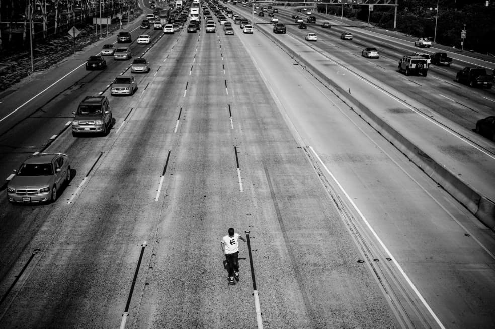 Don Brown, 405 Freeway, California, 2008. | Photograph by Skin Phillips 3