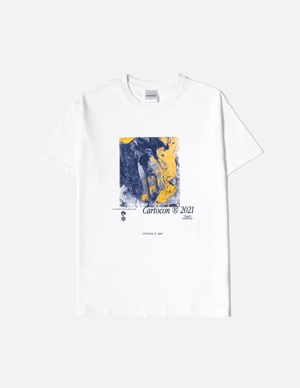 CARTOCON Thought & Knowledge T-Shirt - White   T-Shirt by Cartocon 1