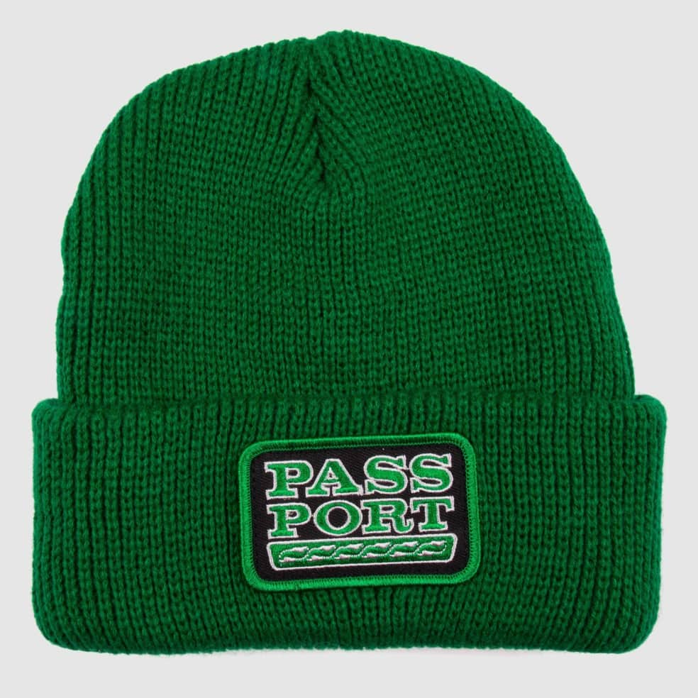 Pass~Port Auto Patch Beanie - Kelly Green | Beanie by Pass~Port Skateboards 1
