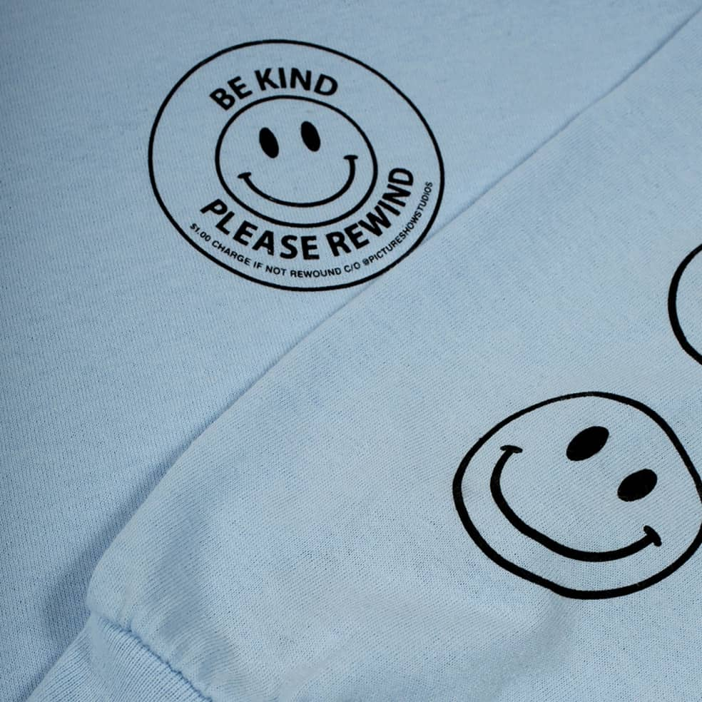 Picture Show Be Kind Long Sleeve Tee Powder Blue | Longsleeve by Picture Show Studios 2
