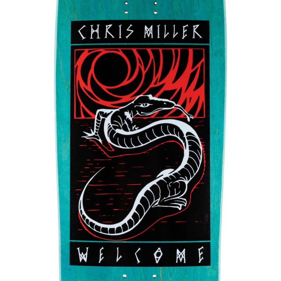 """Welcome Miller Lizard on Gaia Deck 9.75"""" (Teal Stain)   Deck by Welcome Skateboards 2"""