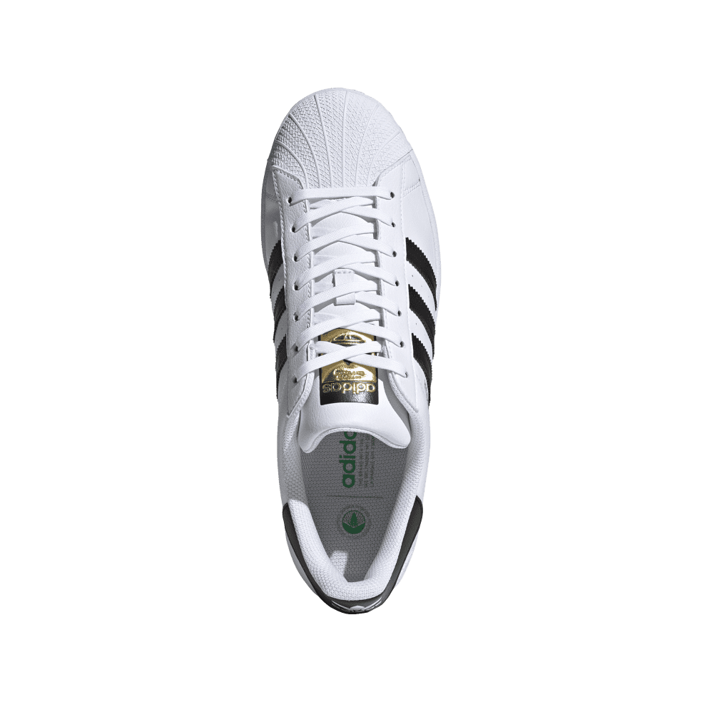 adidas Superstar Vegan Shoes - Cloud White / Core Black / Green   Shoes by adidas Skateboarding 2
