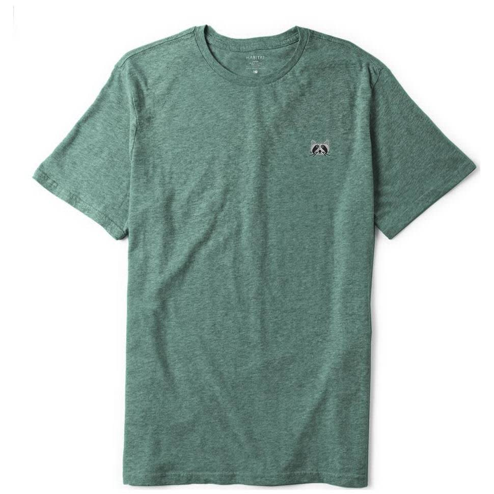 Habitat Skateboards Raccoon Embroidered T-Shirt - Aqua Heather   T-Shirt by Habitat Skateboards 1