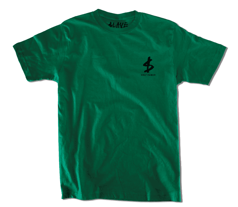 Slave Only Human Circle of Death T-Shirt (Forest Green) | T-Shirt by Slave Skateboards 3