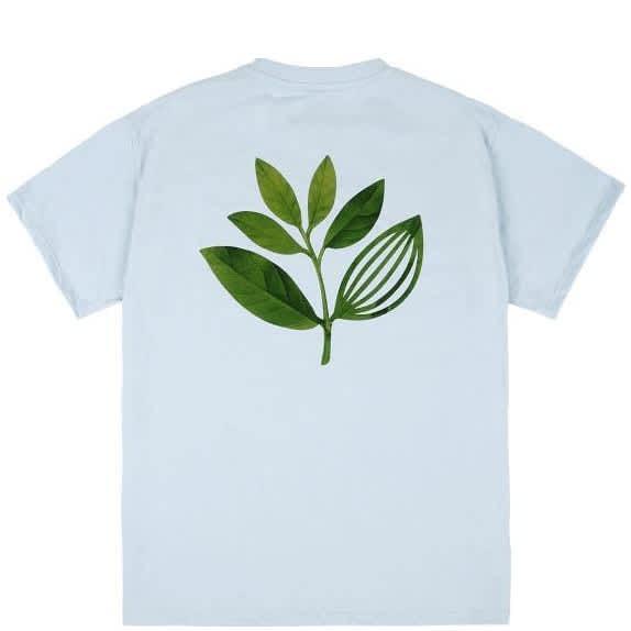 Magenta True Leaf T-Shirt - Light Blue   T-Shirt by Magenta Skateboards 1