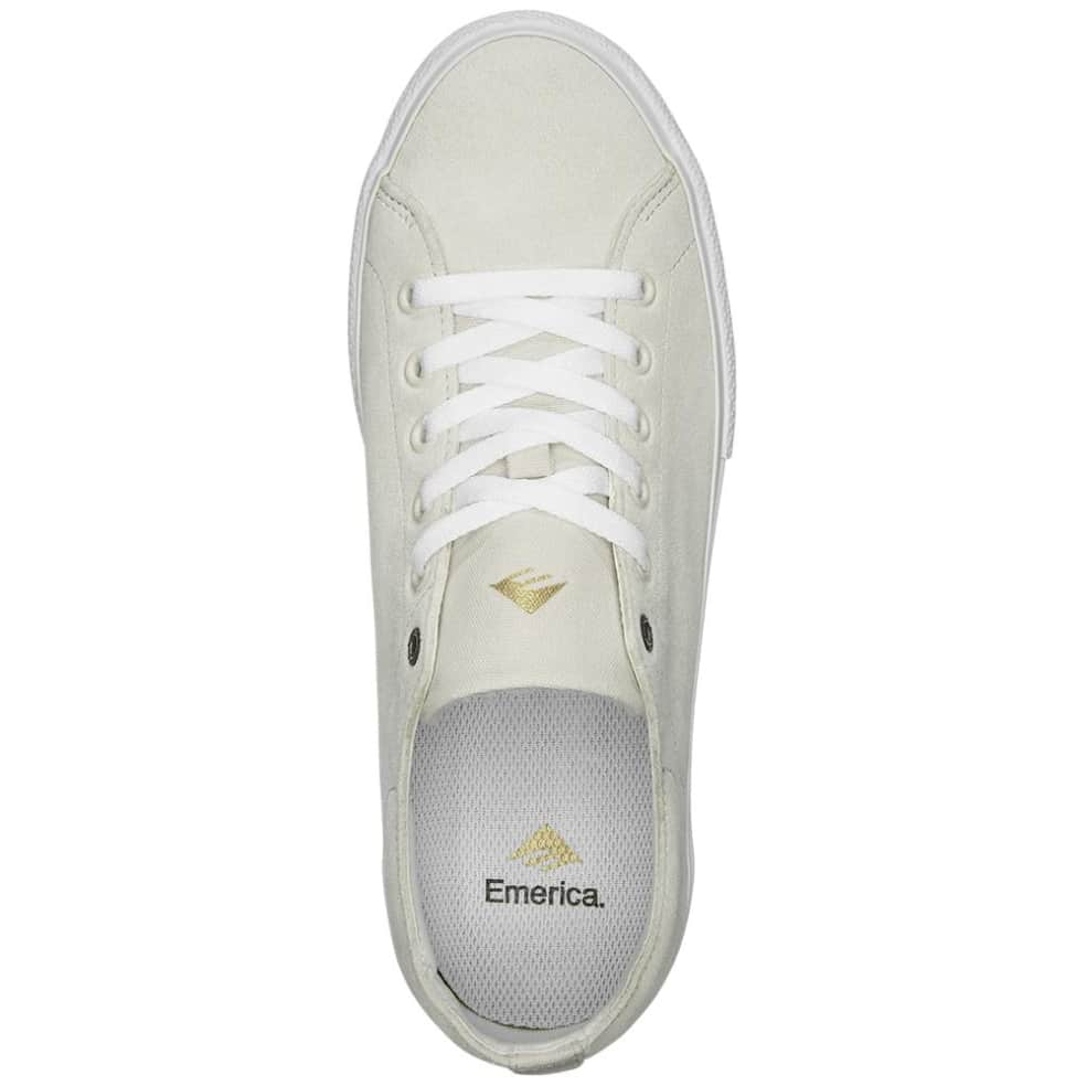 Emerica Omen Lo Skate Shoes - White | Shoes by Emerica 3