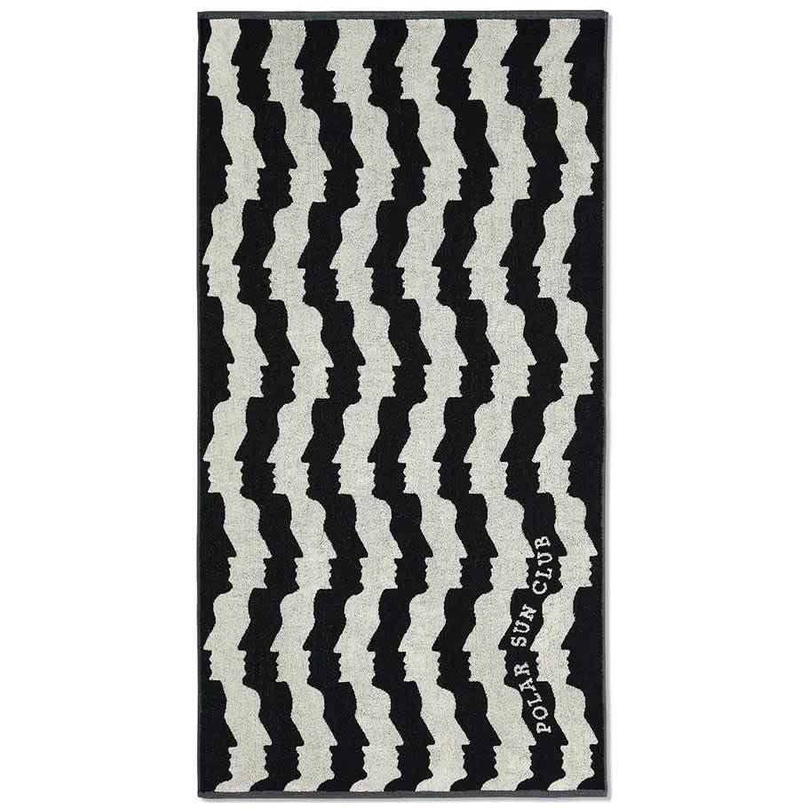 Polar Skate Co Faces Beach Towel - Black / White | Giftables by Polar Skate Co 1