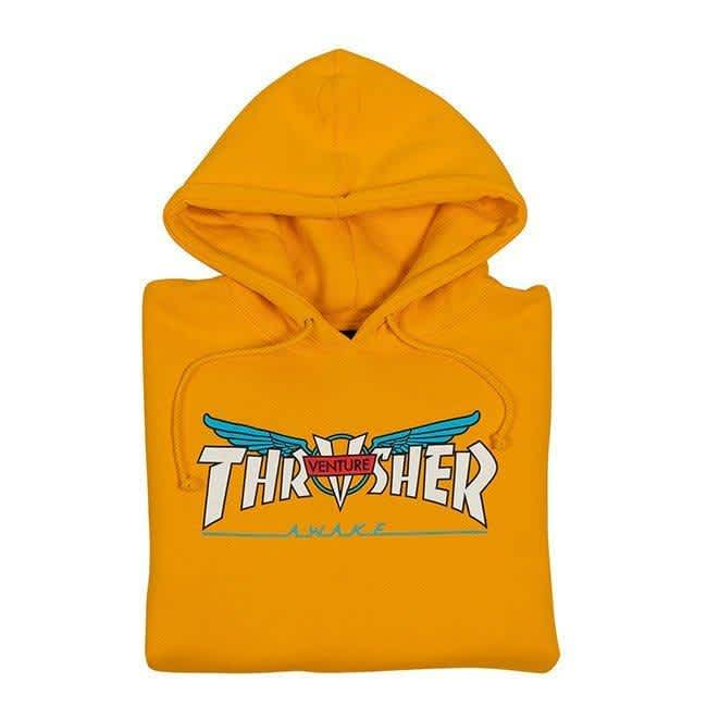 Thrasher Venture Collab Hoodie - Gold | Hoodie by Thrasher 2
