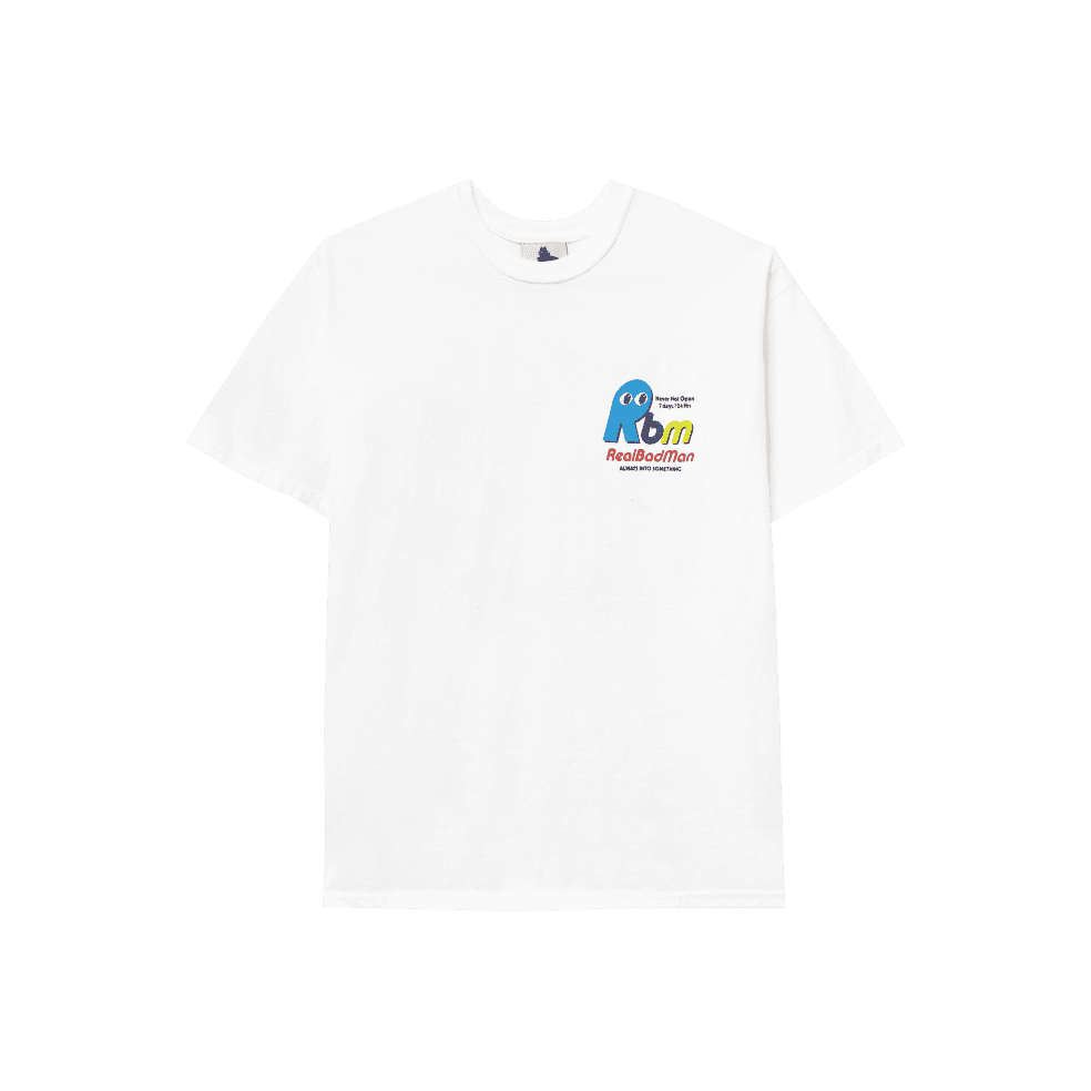 Real Bad Man Never Not Open Short Sleeve T-shirt - White | T-Shirt by Real Bad Man 2
