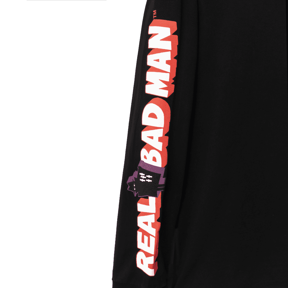 Real Bad Man Graphic Content Long Sleeve T-Shirt - Black   Longsleeve by Real Bad Man 3