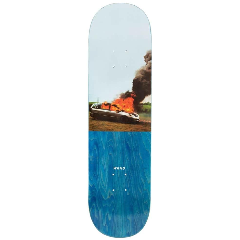 "WKND Van On Fire Skateboard Deck - 8.5""   Deck by WKND 1"