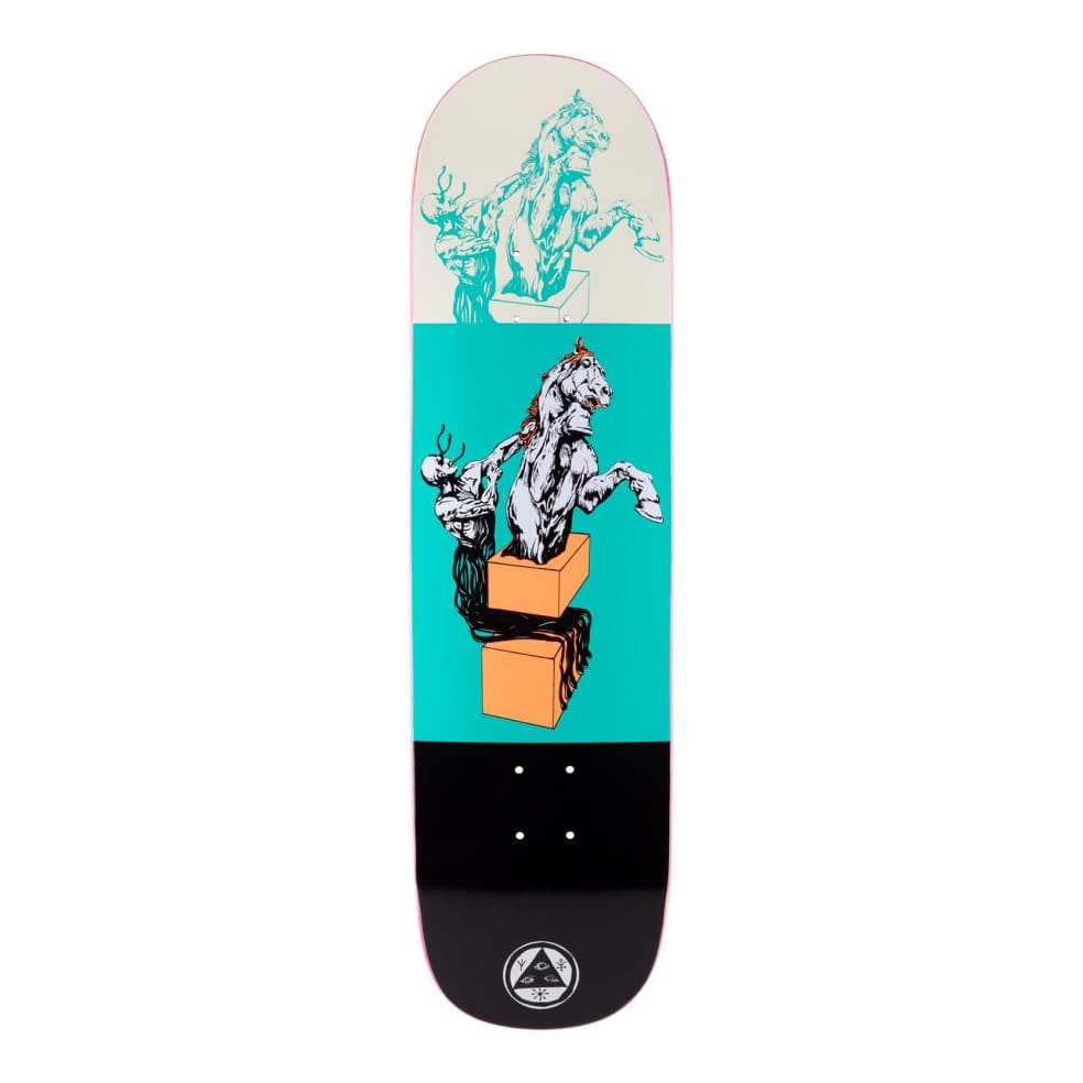"""Welcome Hierophant On Big Bunyip Deck (Teal/Black) 8.5""""   Deck by Welcome Skateboards 1"""