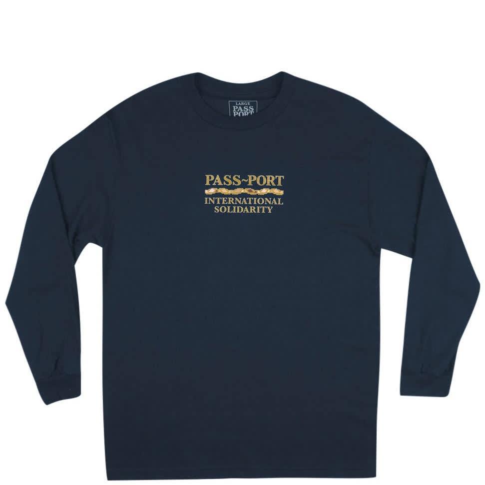 Pass~Port Inter Solid Long Sleeve T-Shirt - Navy   Longsleeve by Pass~Port Skateboards 1