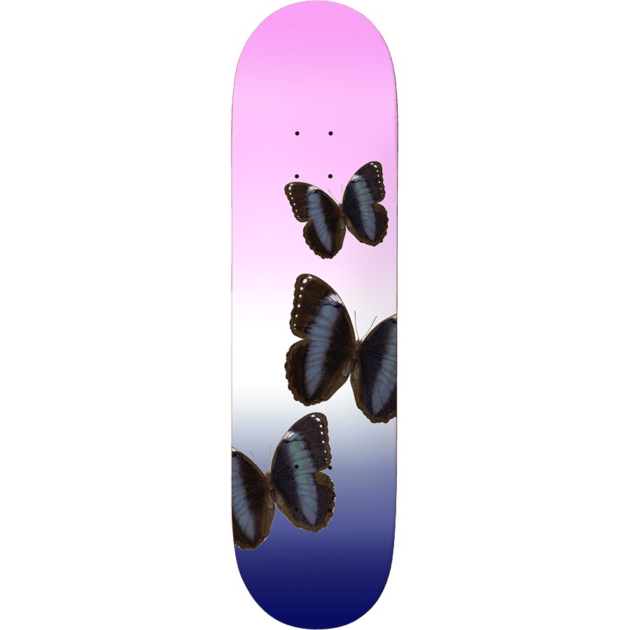 """Call Me 917 Butterfly Slick Skateboard Deck Pink - 8.25"""" 