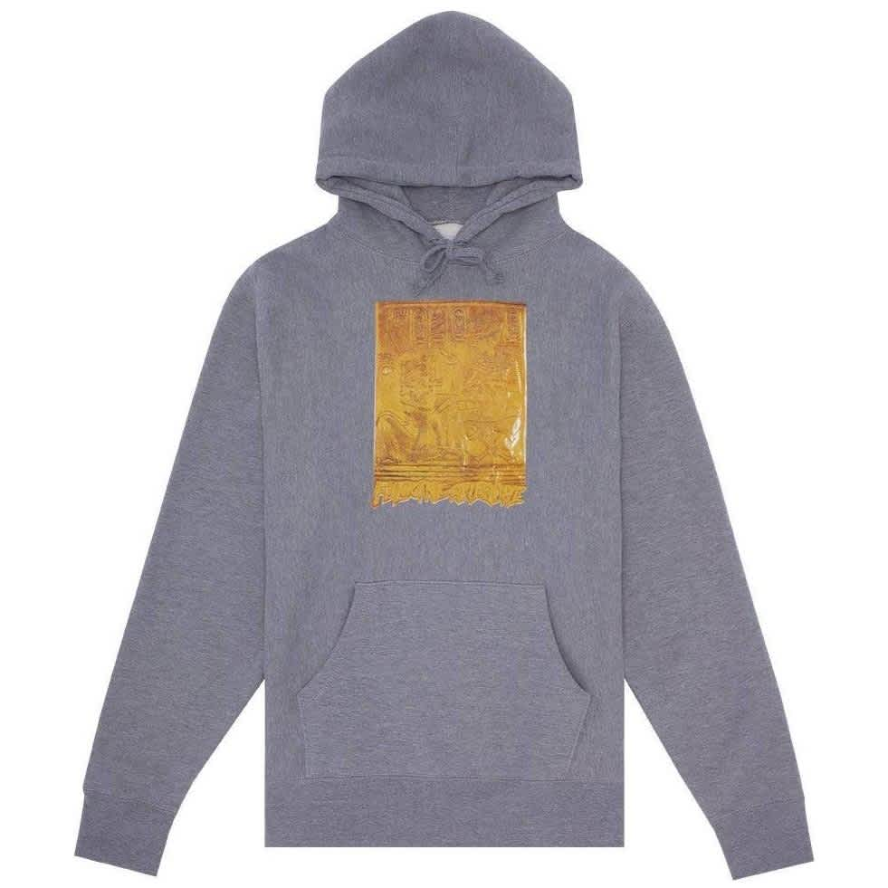 Fucking Awesome Gold Hieroglyphic Hoodie - Gunmetal   Hoodie by Fucking Awesome 1