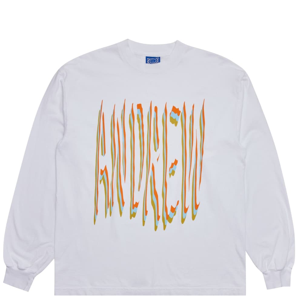 Andrew 2wo2imes Type Long Sleeve T-Shirt - White   Longsleeve by Andrew 1