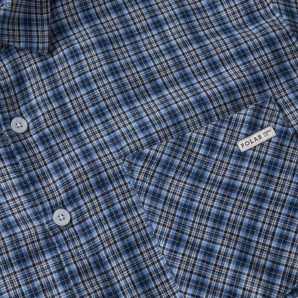 Polar Skate Co Mitchell Flannel Shirt - Blue   Shirt by Polar Skate Co 2
