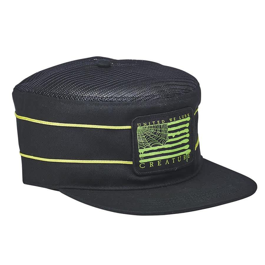 Creature Lurk With Us Snapback Hat Black | Snapback Cap by Creature Skateboards 2