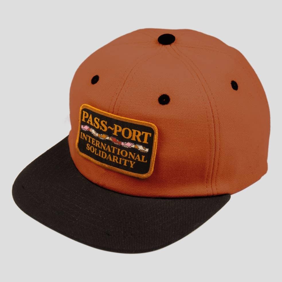 Pass~Port Inter Solid Patch Cap - Brown / Black   Baseball Cap by Pass~Port Skateboards 1