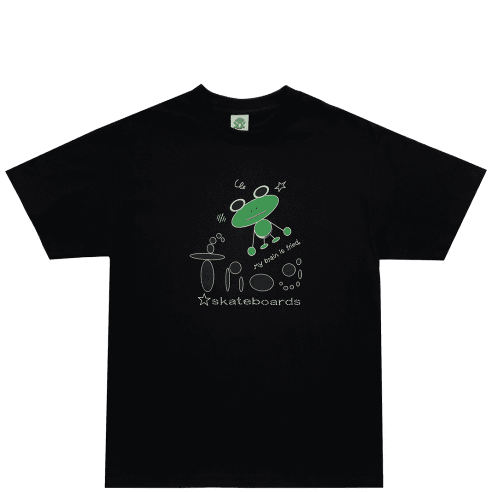 Frog My Brain Is Fried T-Shirt - Black | T-Shirt by Frog Skateboards 1