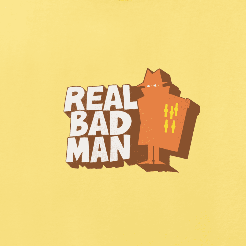 Real Bad Man Front Hitter T-Shirt - Butter Yellow   T-Shirt by Real Bad Man 3