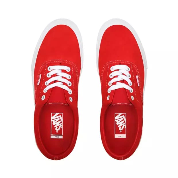 Vans Era Pro Skate Shoes - Red / White | Shoes by Vans 2