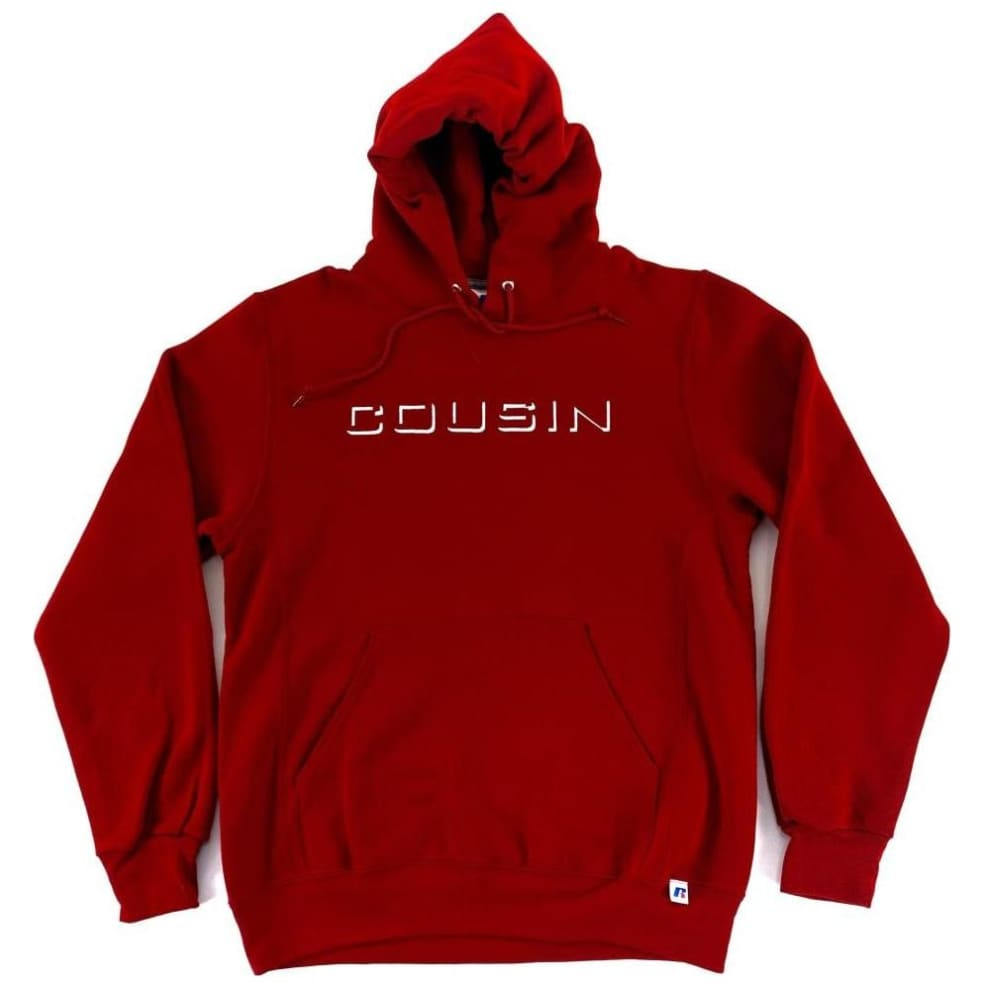 Cousin Records CR Hoodie - Cardinal | Hoodie by Cousin Records 1