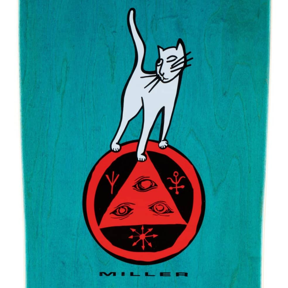 """Welcome Miller Lizard on Gaia Deck 9.75"""" (Teal Stain)   Deck by Welcome Skateboards 3"""
