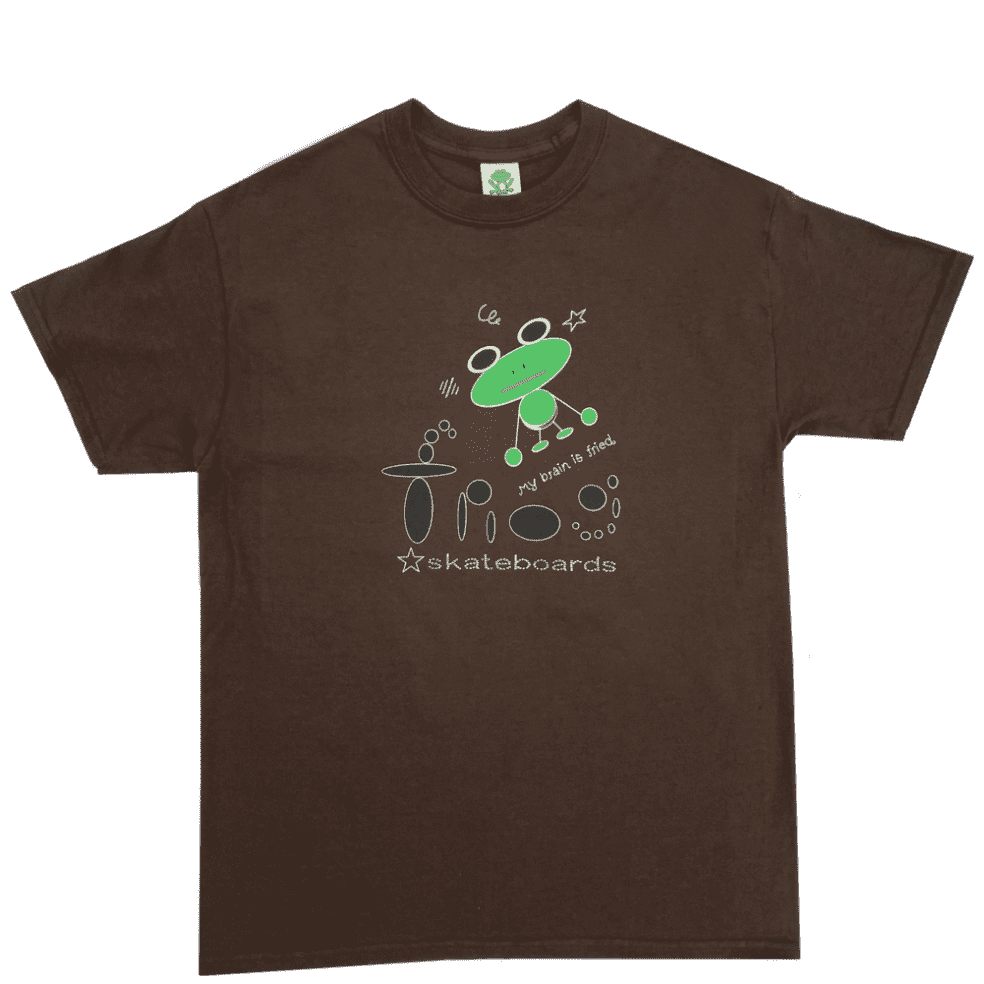 Frog My Brain Is Fried T-Shirt - Brown   T-Shirt by Frog Skateboards 1