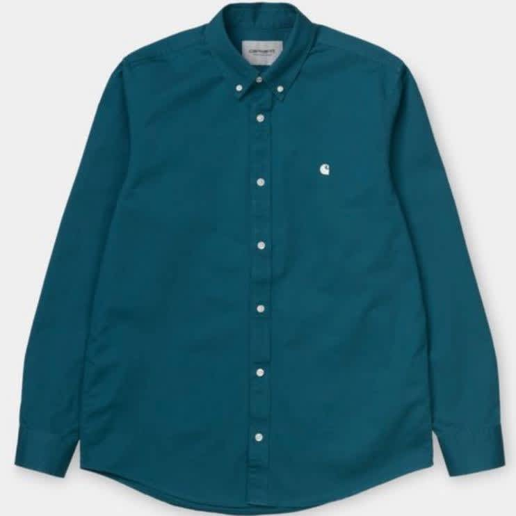 Carhartt WIP - L/S Madison Shirt - Moody Blue/Wax   Shirt by Carhartt WIP 1