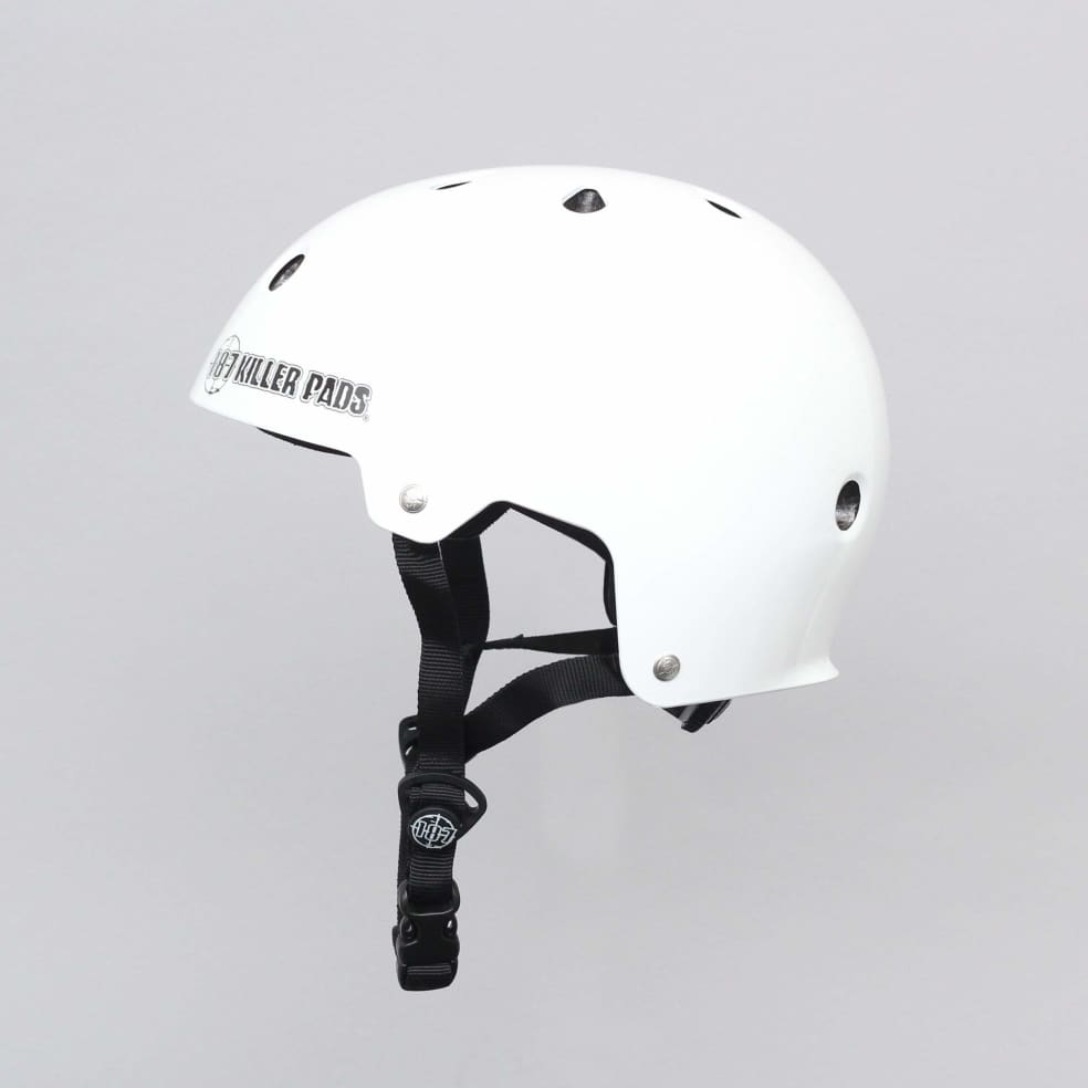 187 Killer Pads Certified Youth Helmet With Adjuster Gloss White | Helmet by 187 Killer Pads 2